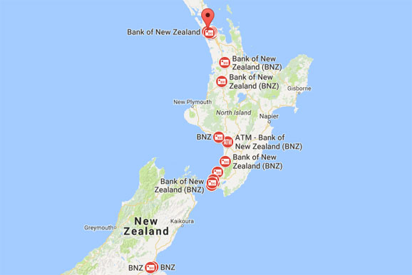 BNZ Branches in New Zealand