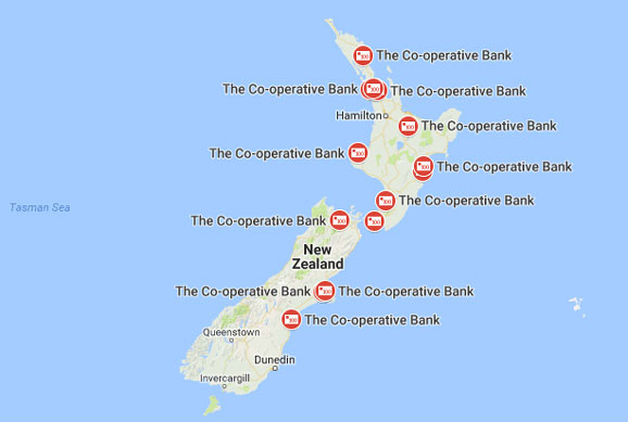 Cooperative Bank NZ Branches